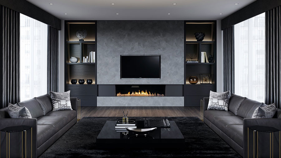 Idee per arredare una parete tv dal design originale n.32