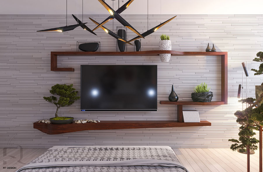 Idee per arredare una parete tv dal design originale n.33