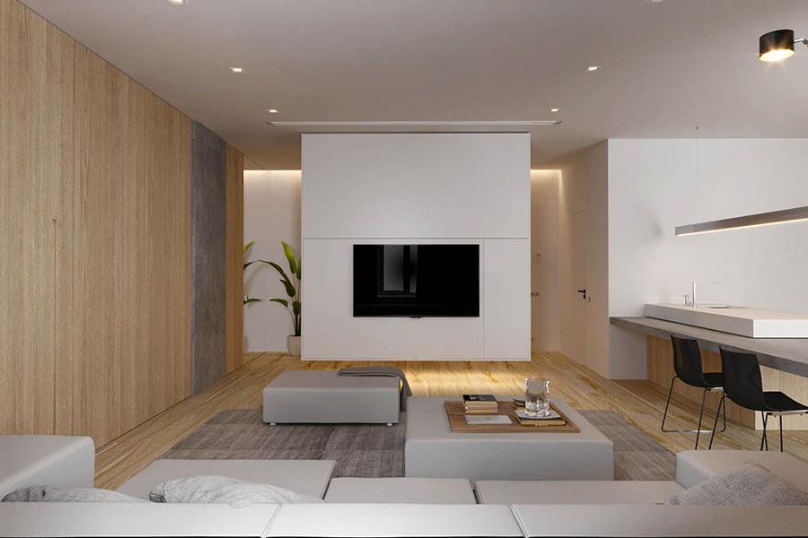 Arredamento per interni bianco e legno n.01