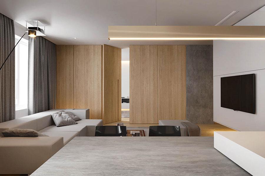 Arredamento per interni bianco e legno n.02