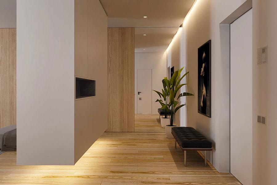 Arredamento per interni bianco e legno n.04