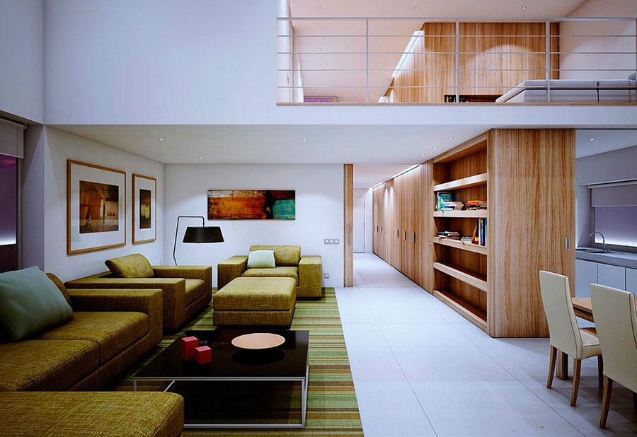 Arredamento per interni bianco e legno n.06