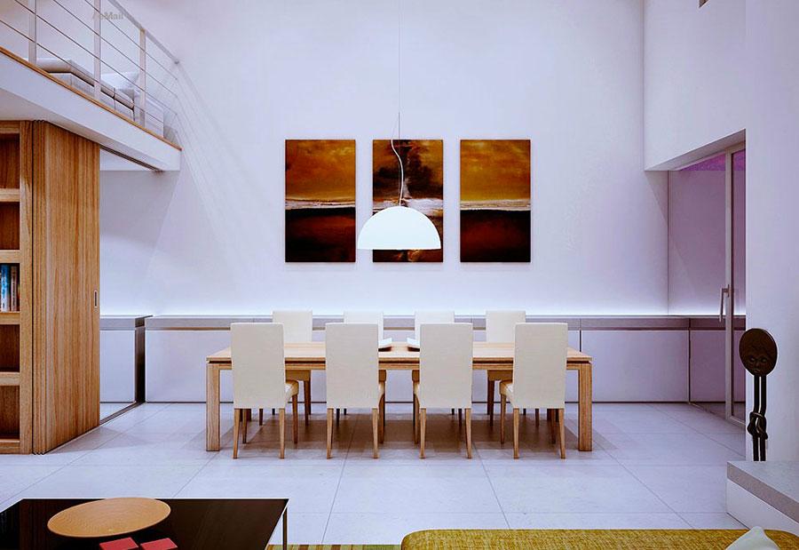 Arredamento per interni bianco e legno n.08