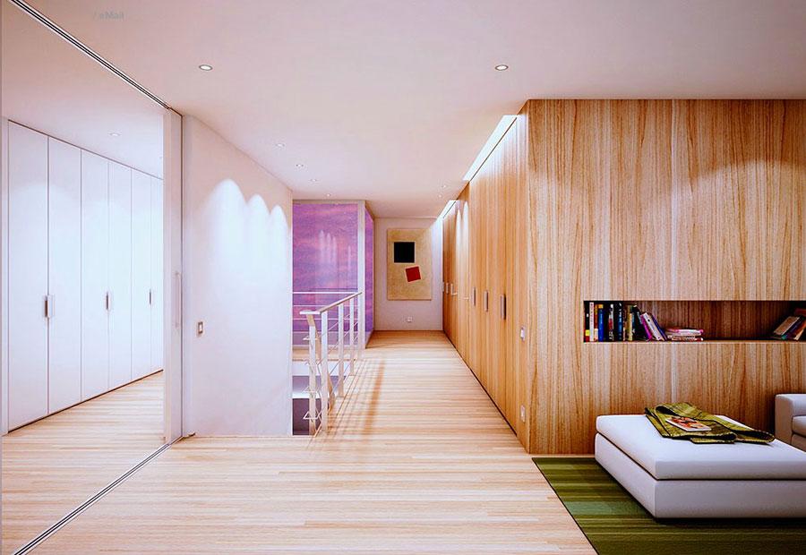 Arredamento per interni bianco e legno n.12