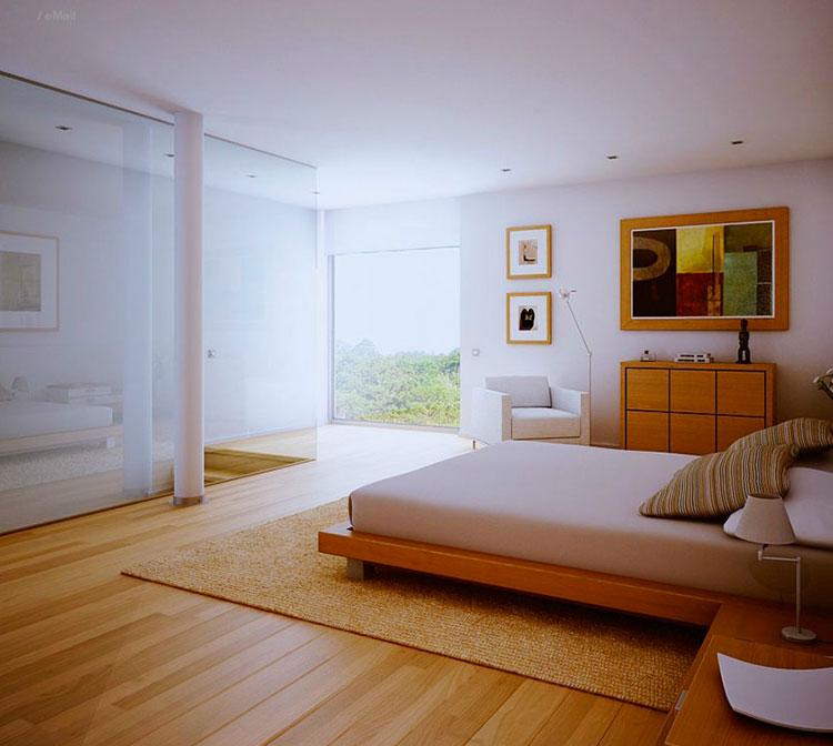 Arredamento per interni bianco e legno n.13