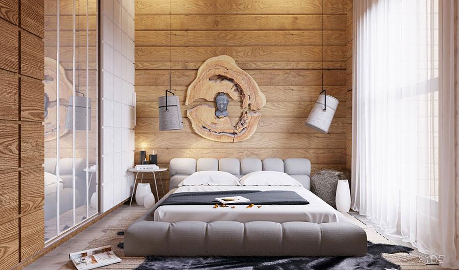 Arredamento per interni bianco e legno n.18