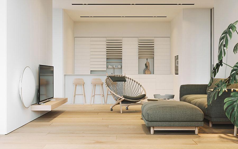 Arredamento per interni bianco e legno n.26