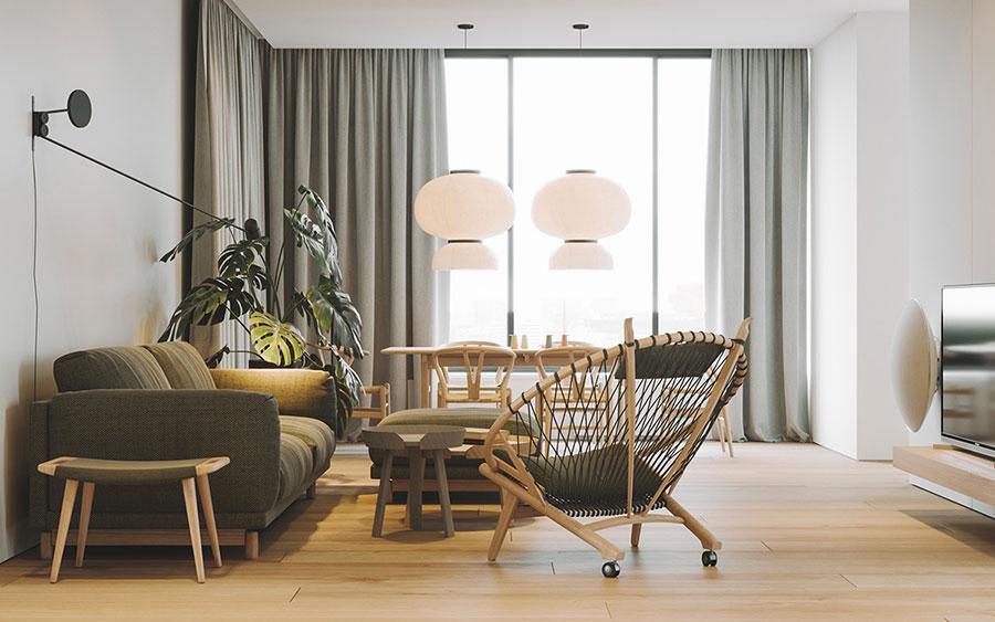 Arredamento per interni bianco e legno n.27