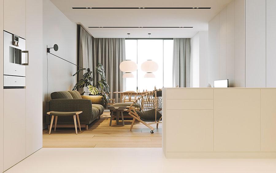 Arredamento per interni bianco e legno n.28