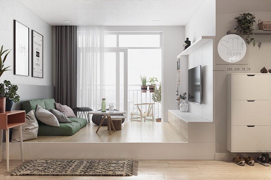 Arredamento bianco e legno 50 idee con foto di interni for Stili di arredamento interni
