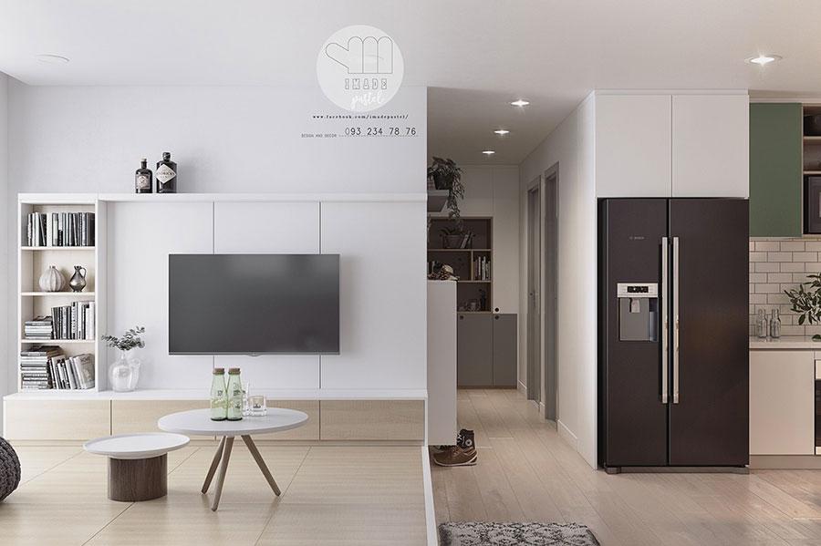 Arredamento per interni bianco e legno n.30