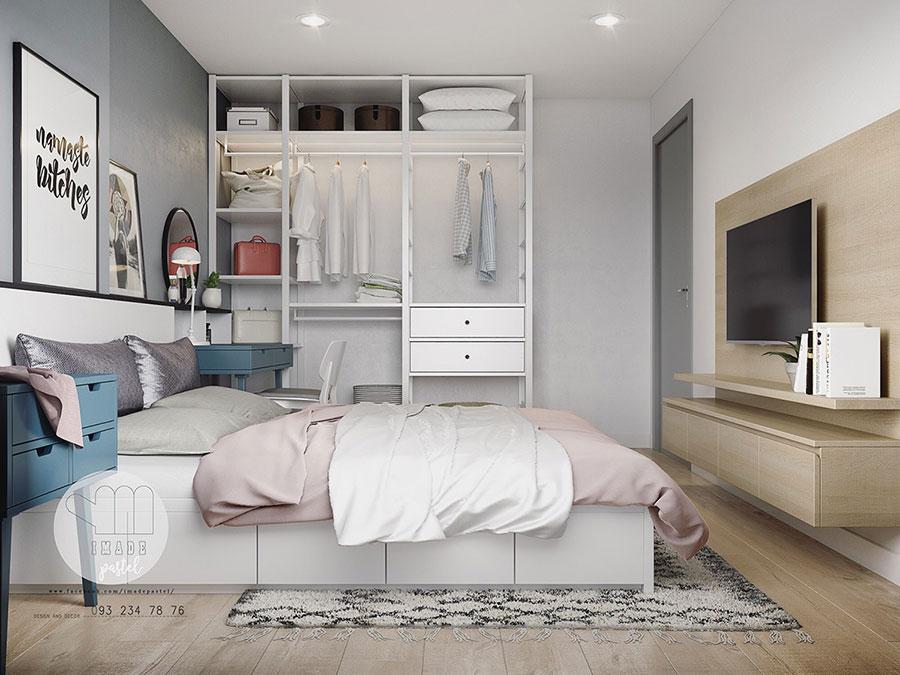 Arredamento per interni bianco e legno n.32
