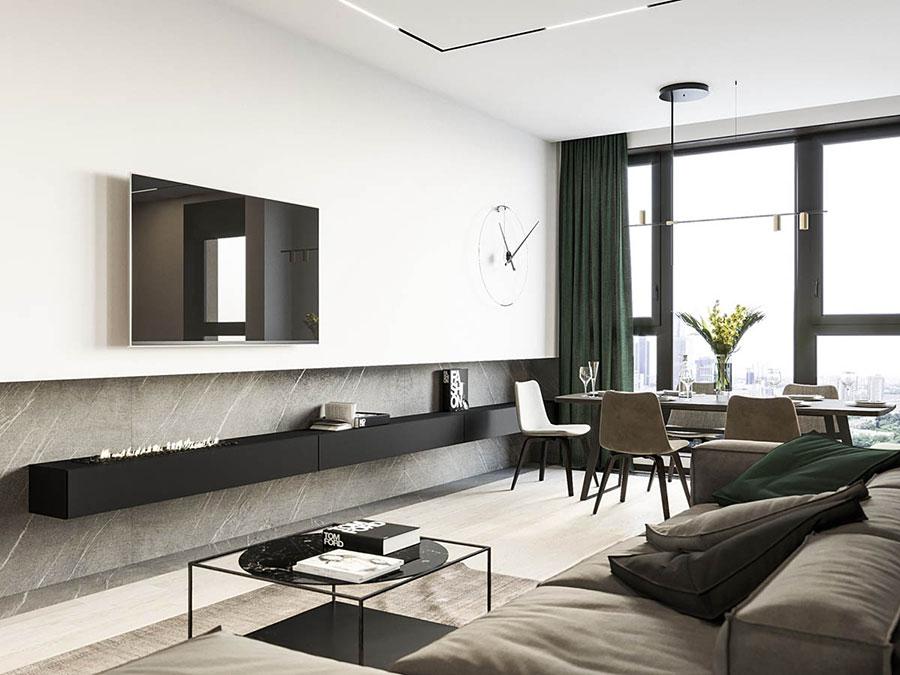 Arredamento per interni bianco e legno n.35