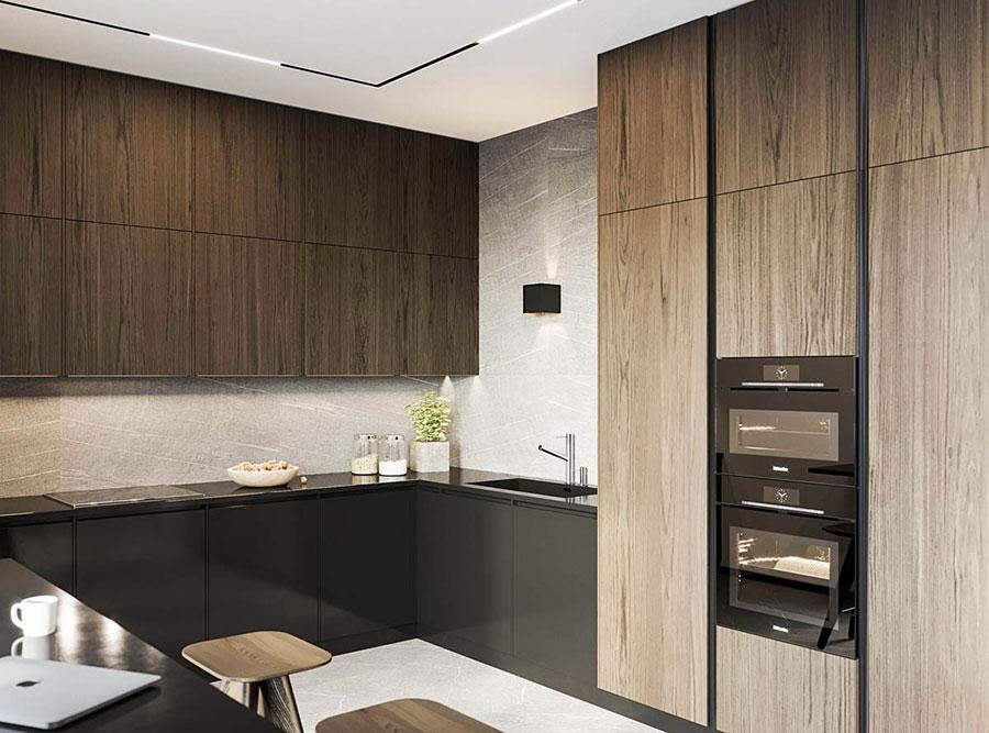 Arredamento per interni bianco e legno n.37