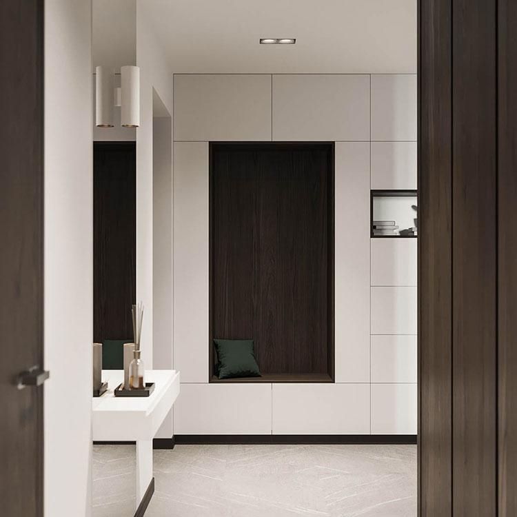Arredamento per interni bianco e legno n.39