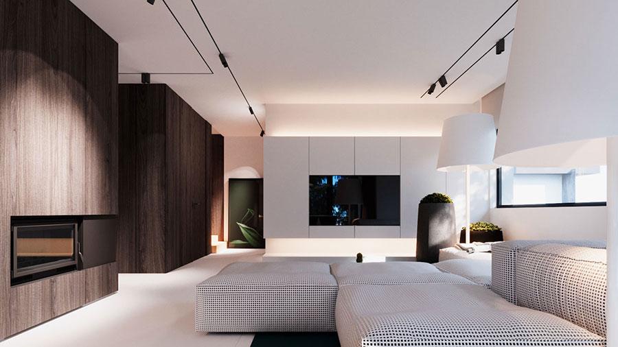 Arredamento per interni bianco e legno n.41