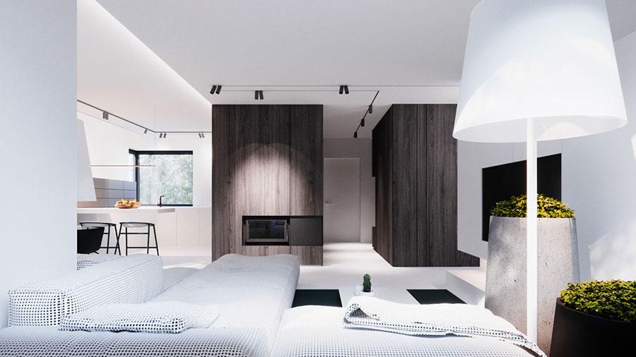 Arredamento per interni bianco e legno n.42