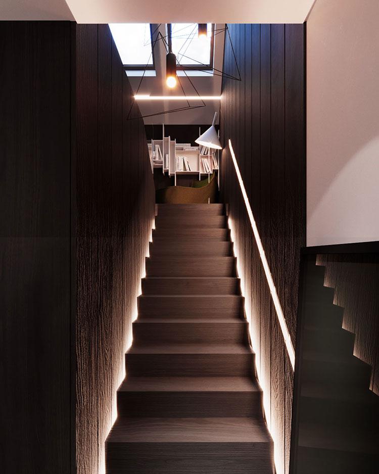 Arredamento per interni bianco e legno n.44