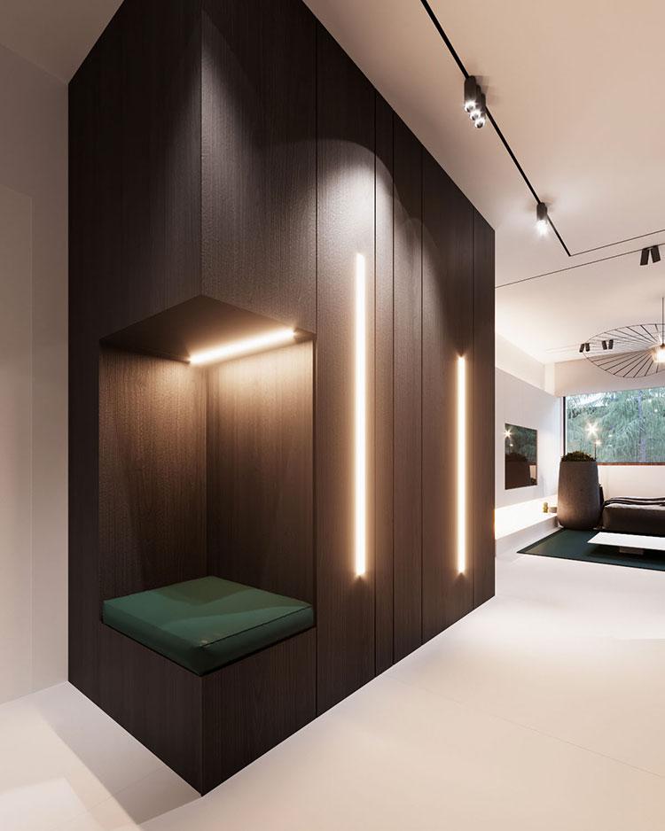 Arredamento per interni bianco e legno n.45