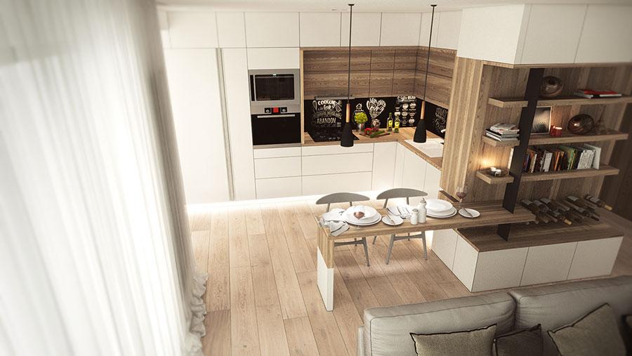 Arredamento per interni bianco e legno n.47