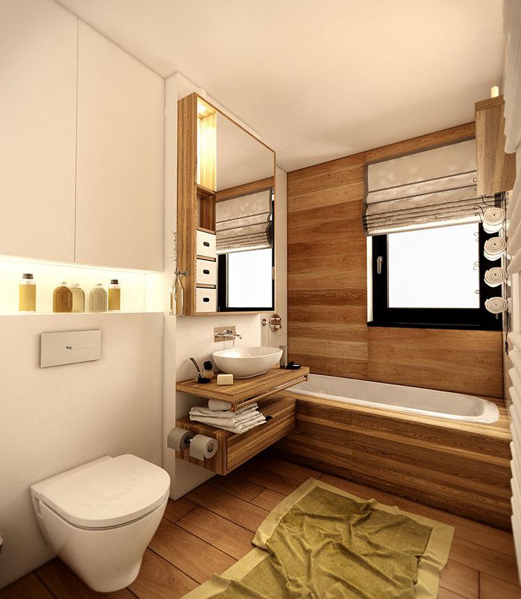 Arredamento per interni bianco e legno n.48