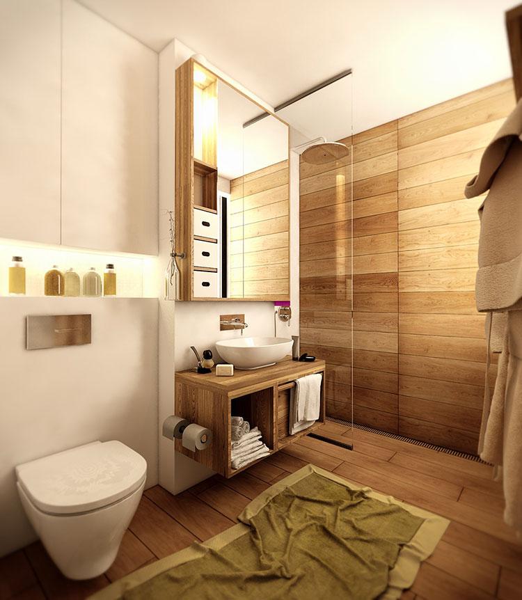 Arredamento per interni bianco e legno n.49