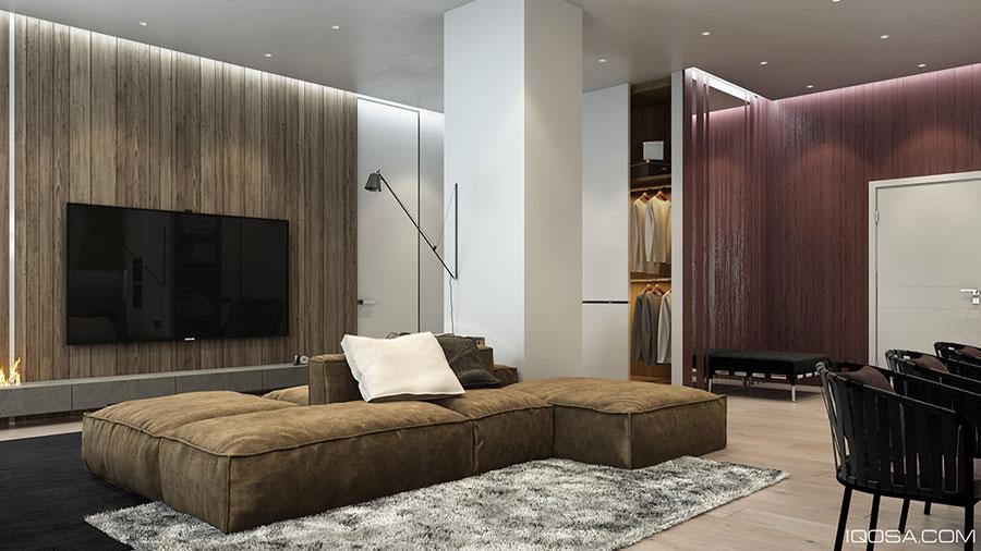 Arredamento per interni bianco e legno n.51