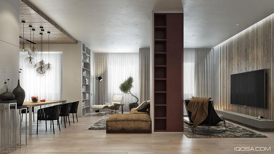 Arredamento per interni bianco e legno n.53
