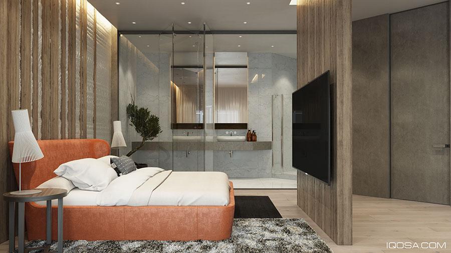 Arredamento per interni bianco e legno n.54