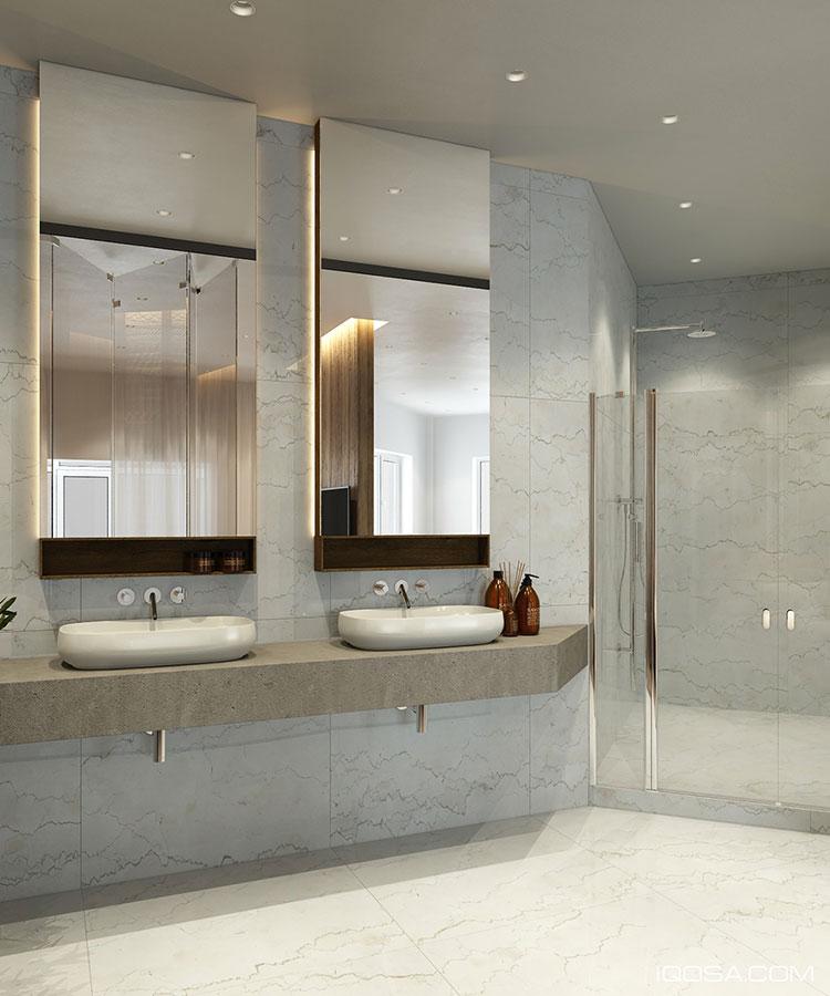 Arredamento per interni bianco e legno n.55