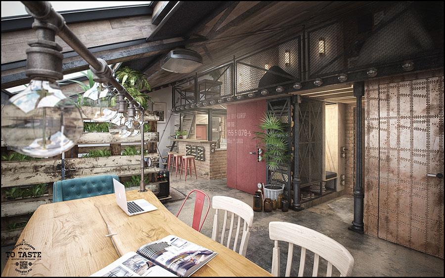 Idee per arredare un loft in stile rustico n.01