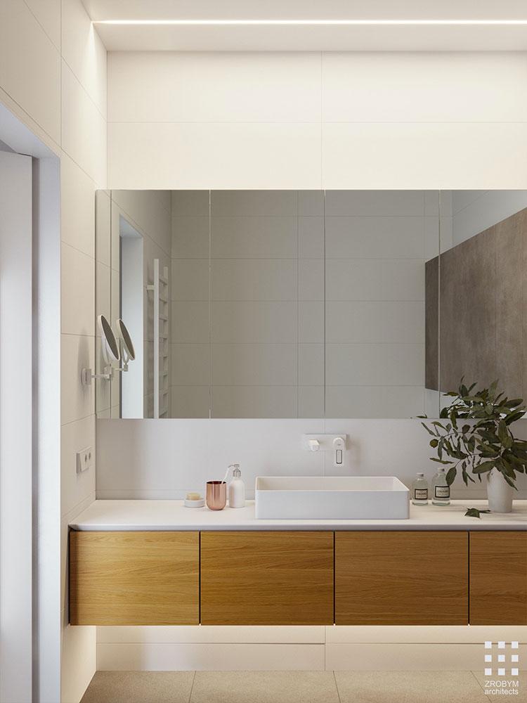 Bagno bianco e legno 20 idee di arredo dal design moderno for Arredo bagno bianco