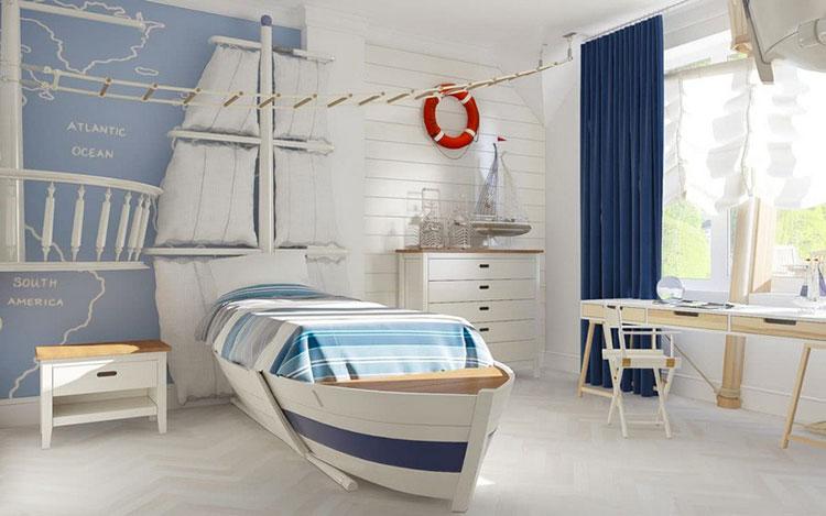 Camerette in stile marinaro ecco 25 idee di arredo for Arredamento stile marinaro