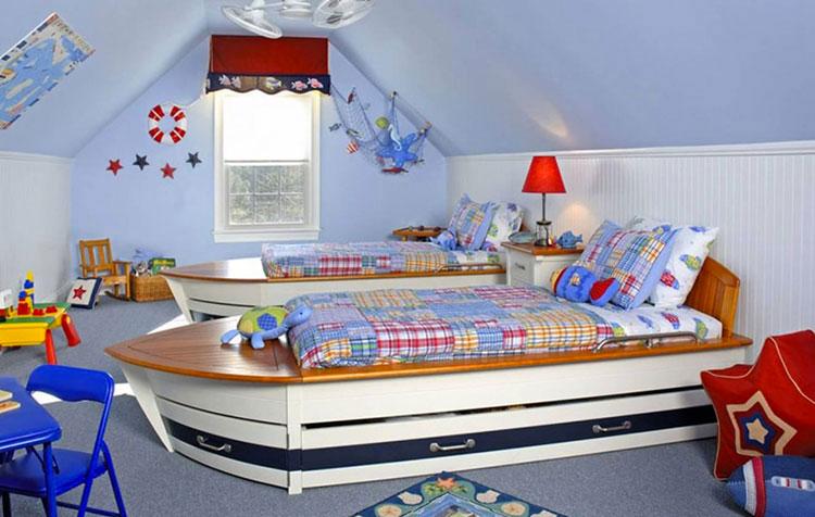 Arredamento per camerette in stile marinaro nautico n.04