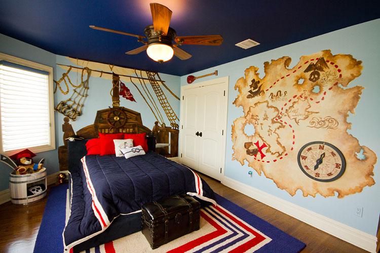 Arredamento per camerette in stile marinaro nautico n.05