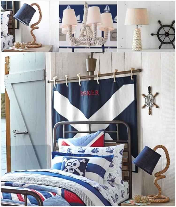 Arredamento per camerette in stile marinaro nautico n.12