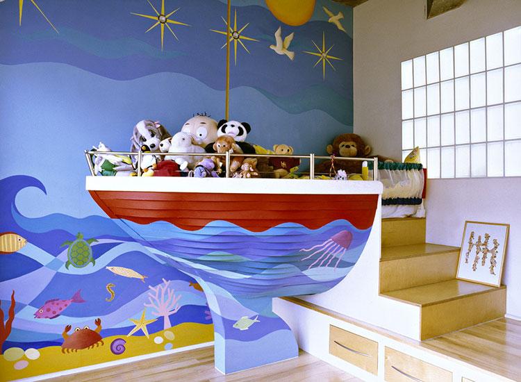 Arredamento per camerette in stile marinaro nautico n.19