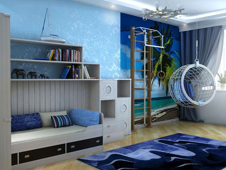 Arredamento per camerette in stile marinaro nautico n.20
