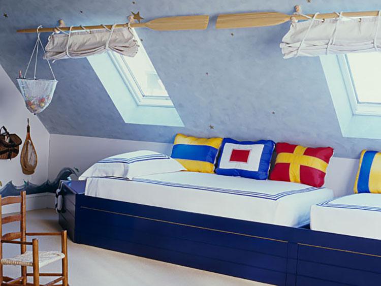 Arredamento per camerette in stile marinaro nautico n.22