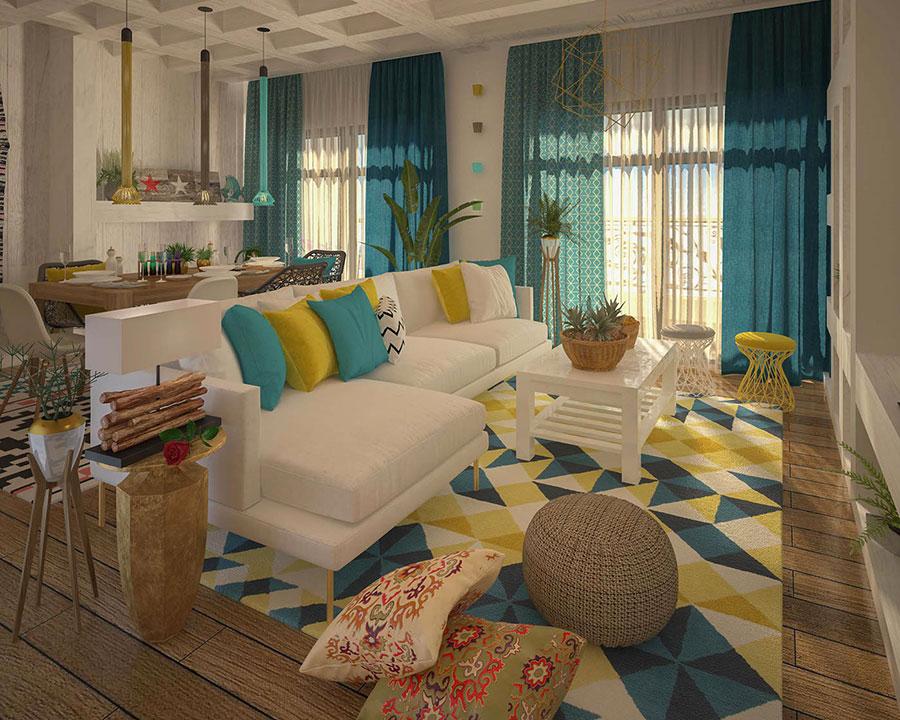 Idee per abbinare i colori in una casa al mare n.01