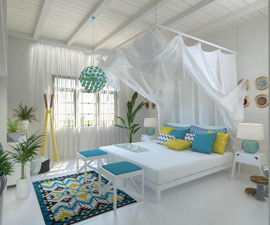 Idee per abbinare i colori in una casa al mare n.02