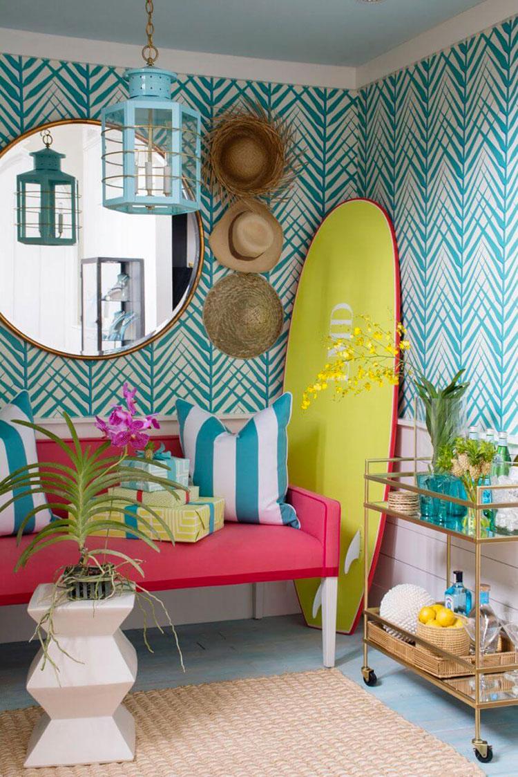 Idee per abbinare i colori in una casa al mare n.03