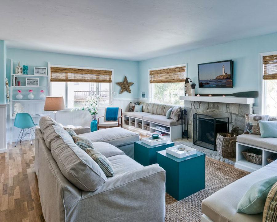 Idee per usare il colore azzurro in una casa al mare n.01