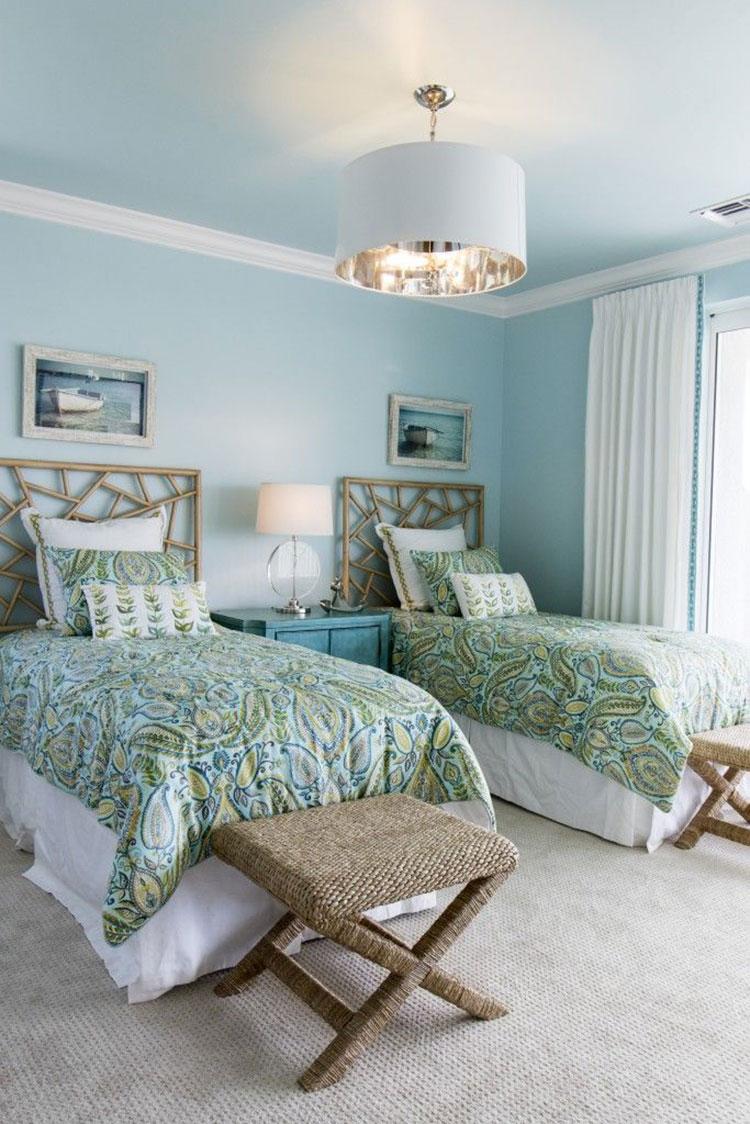 Idee per usare il colore azzurro in una casa al mare n.03