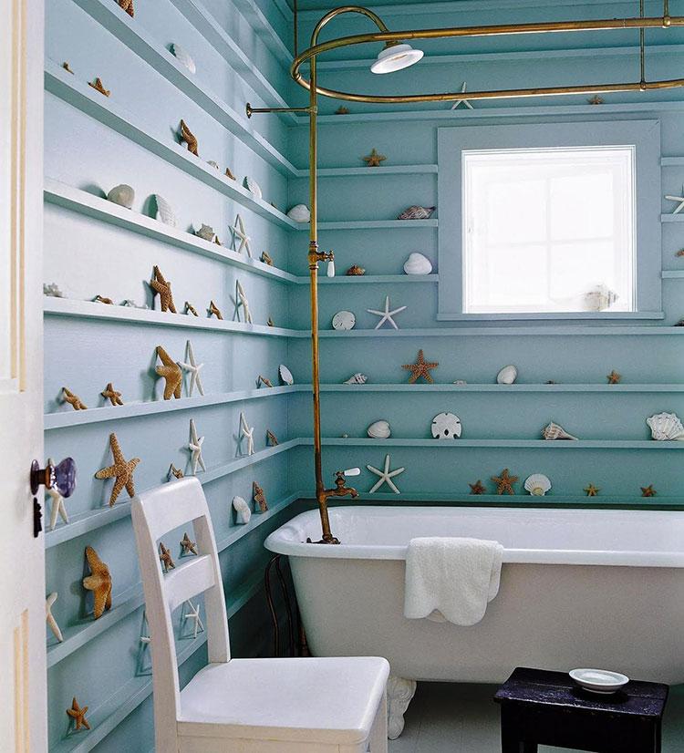 Idee per usare il colore azzurro in una casa al mare n.04