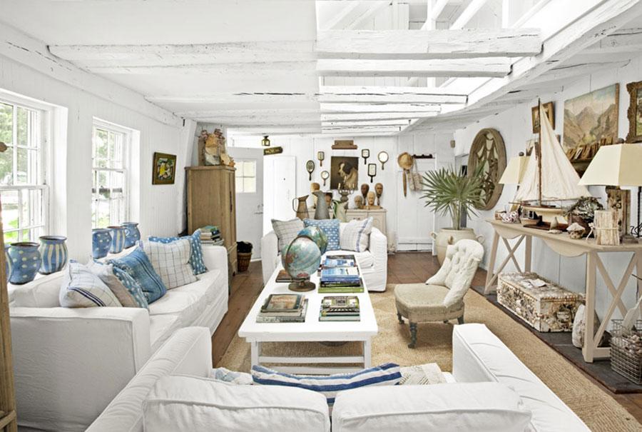 Idee per usare il colore bianco in una casa al mare n.03