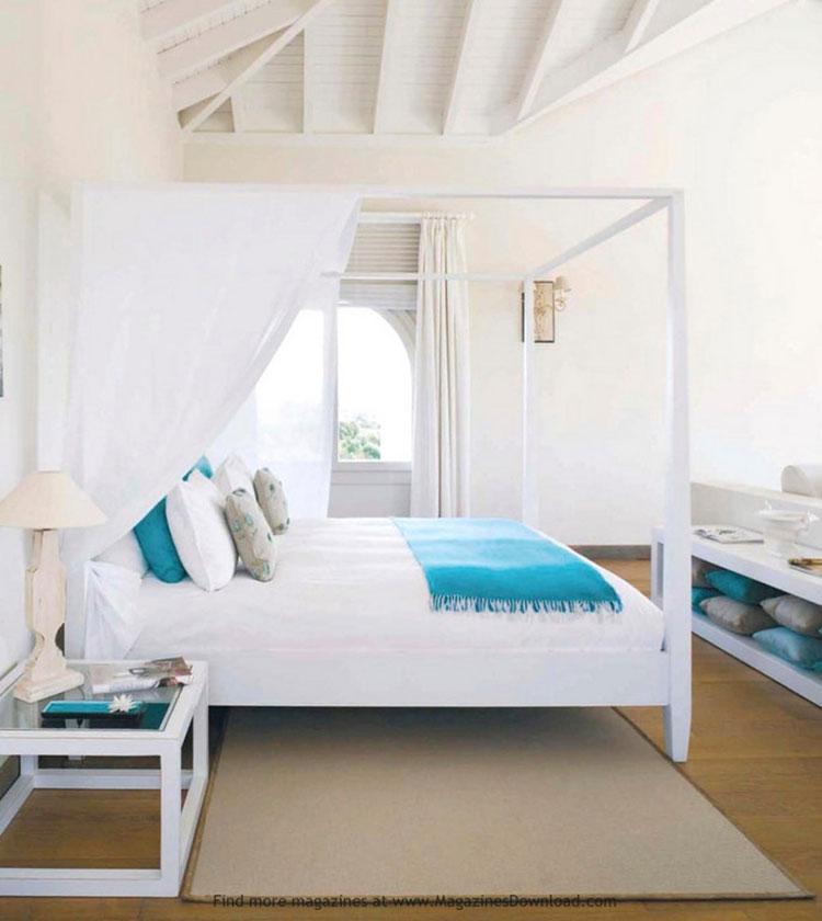 Idee per usare il colore bianco in una casa al mare n.04