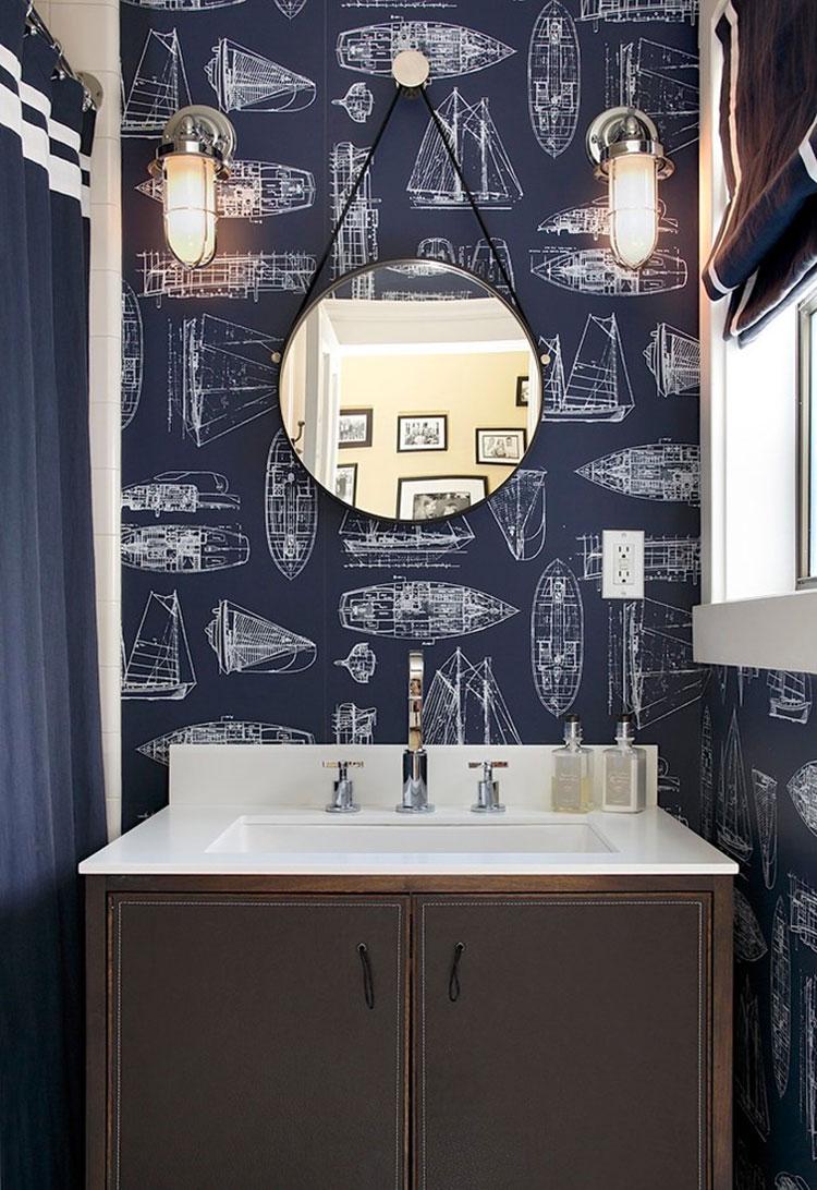 Idee per usare il colore blu in una casa al mare n.03
