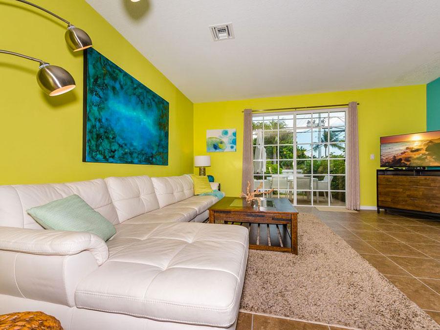 Idee per usare il colore giallo in una casa al mare n.01