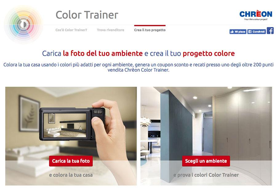 Simulatore di colore per pareti online Color Trainer